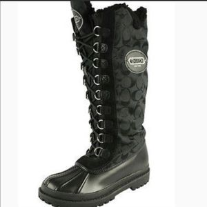 Coach Libby Snow/Rain Boot Size 6